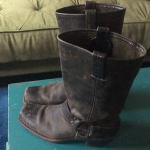 """Hunter"" Dark Olive Green Frye Harness Boots"